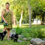 Ulkoilu perheen schipperkien Nukan ja Siilin kanssa on Kirsti Keskitalolle tehokas tapa ladata akkuja työpäivän jälkeen.
