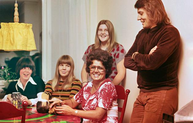 Laulaja Olavi Virran perhe vuonna 1972