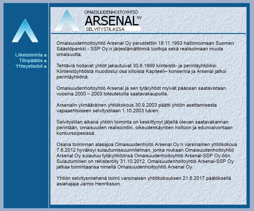 Omaisuudenhoitoyhtiö Arsenal Oy