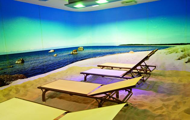 Meresuu-kylpylän valohoitohuone