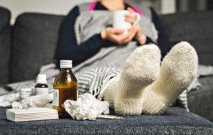 Kuumeeton flunssa ja sairasloma