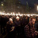 612 -soihtukulkue Helsingissä itsenäisyyspäivänä 6. joulukuuta 2017.