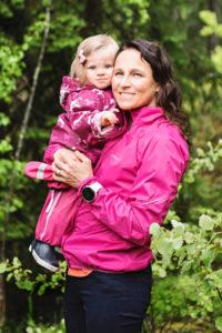 Aino-Kaisa Saarinen ja tytär Amanda