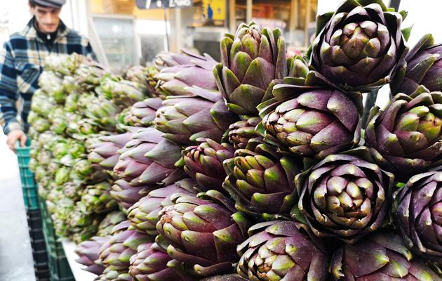 latva-artisokka on yksi Rooman keskeisimmistä kasviksista