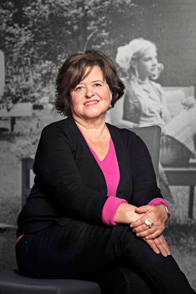 Kirjailija Sabine Forsblom