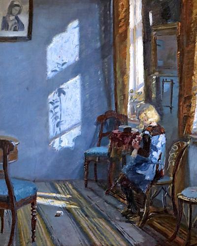Anna Ancherin Solsken i den blå stue -teos