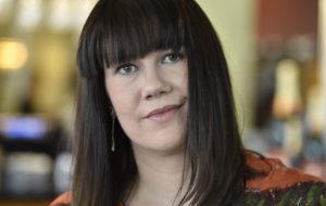 Ohjaaja, näyttelijä, tuottaja, kirjailija Heidi Linden Helsingissä lokakuussa, jolloin hänen kirjansa #Metoo-vallankumous julkistettiin.