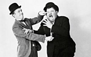 Stan Laurel ja Oliver Hardy.