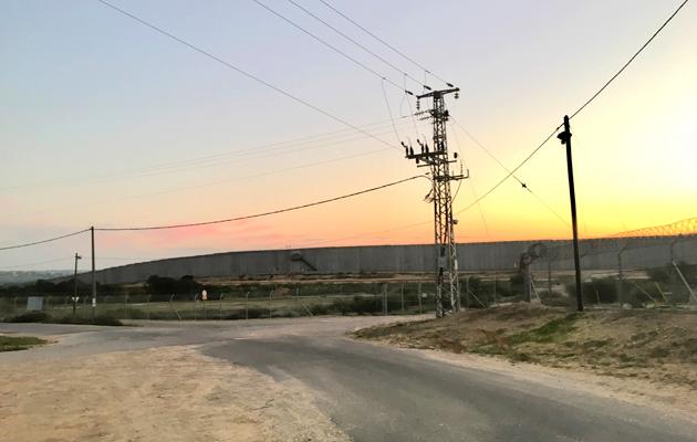 Rajavyöhykettä Israelin ja Gazan välillä