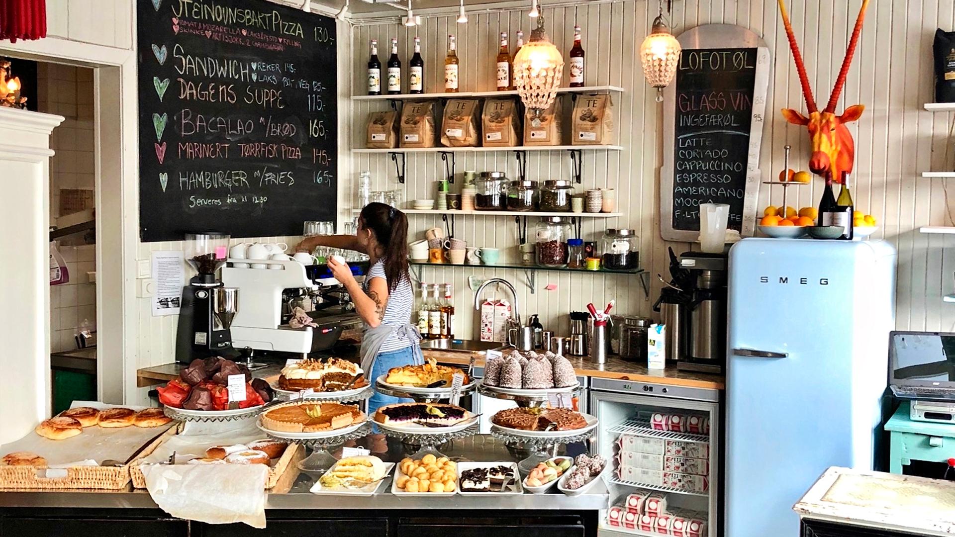 Kahvilat ja ravintolat ovat persoonallisia.