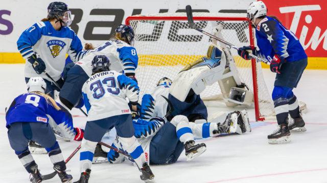Naisten MM-kisojen loppuottelu USA-FIN Espoon Metro Areenalla sunnuntaina 14.4.2019