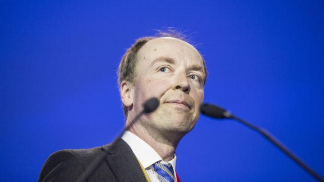 Jussi Halla-aho on perussuomalaisten puheenjohtaja.