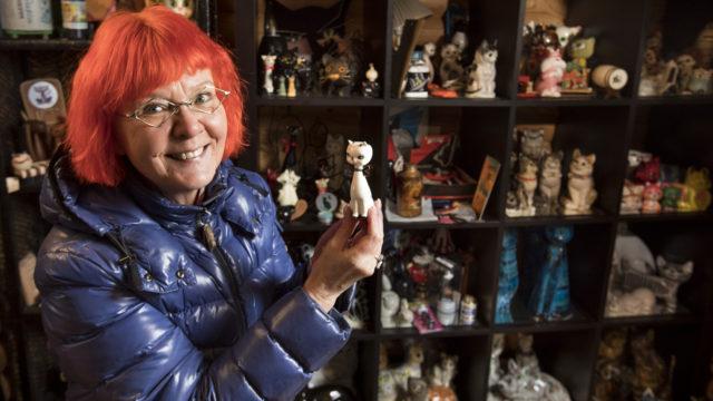 Porvoossa on Suomen ainoa kissamuseo. Hannele Luukkainen on ollut toiminut aktiivisesti museon puolesta.