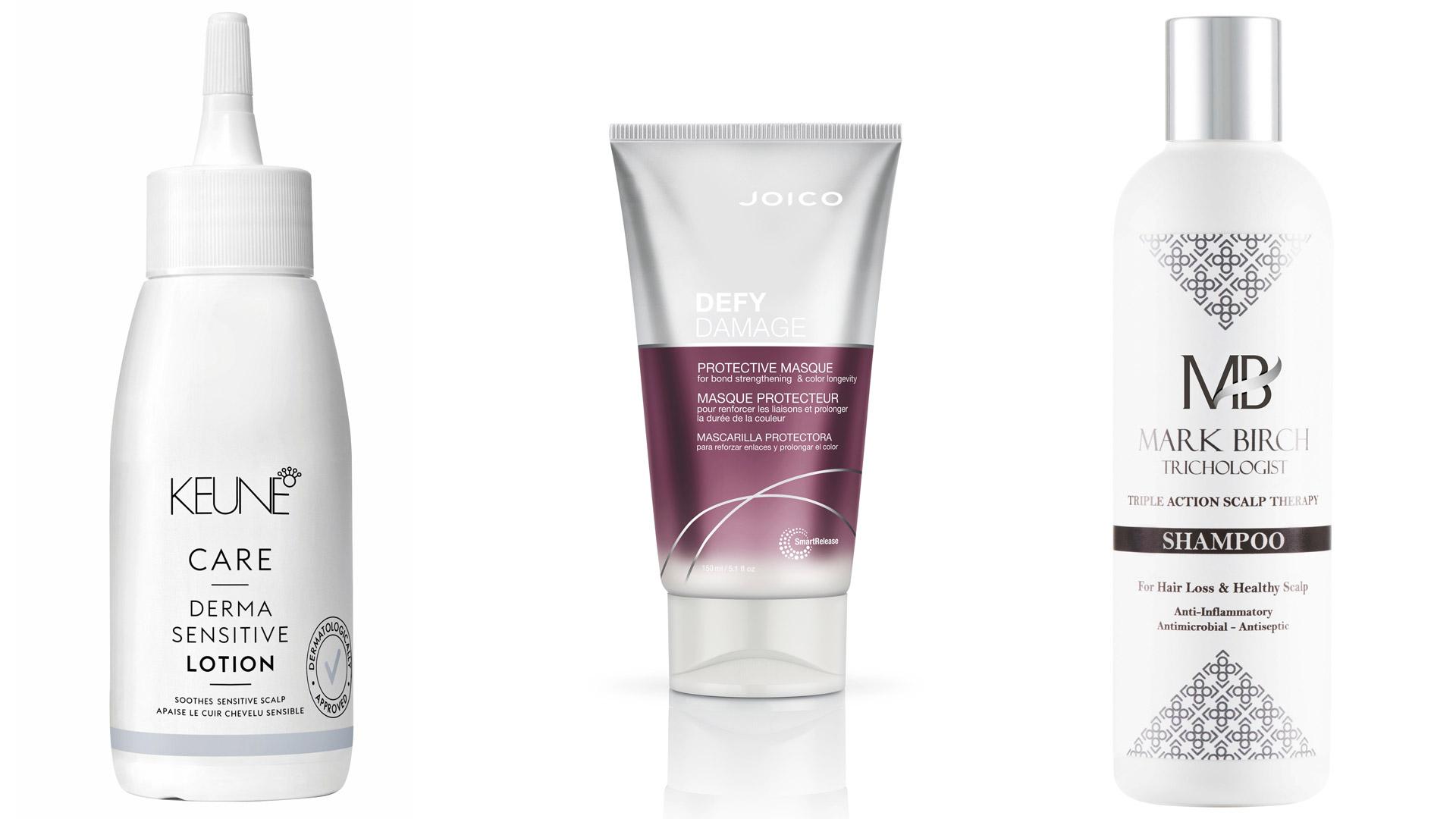 Hiusvesi, tehonaamio ja shampoo.