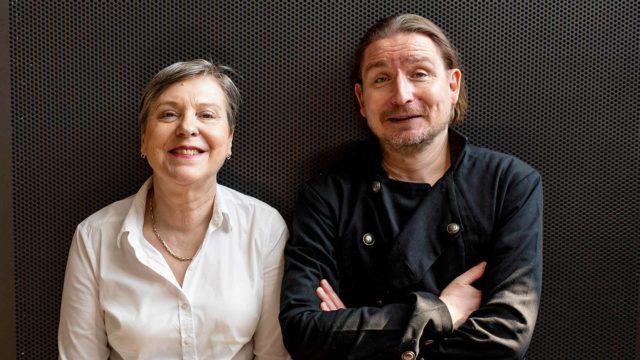 Kirjailija Antti Halme ja toimittaja Marja-Terttu Yli-Sirniö