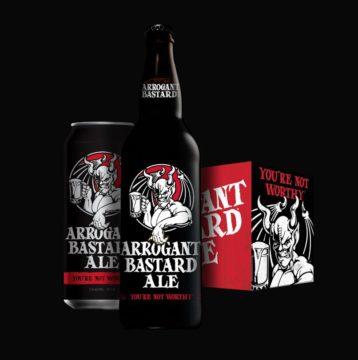 Arrogant Bastard -olutta myydään ylimielisyydellä.