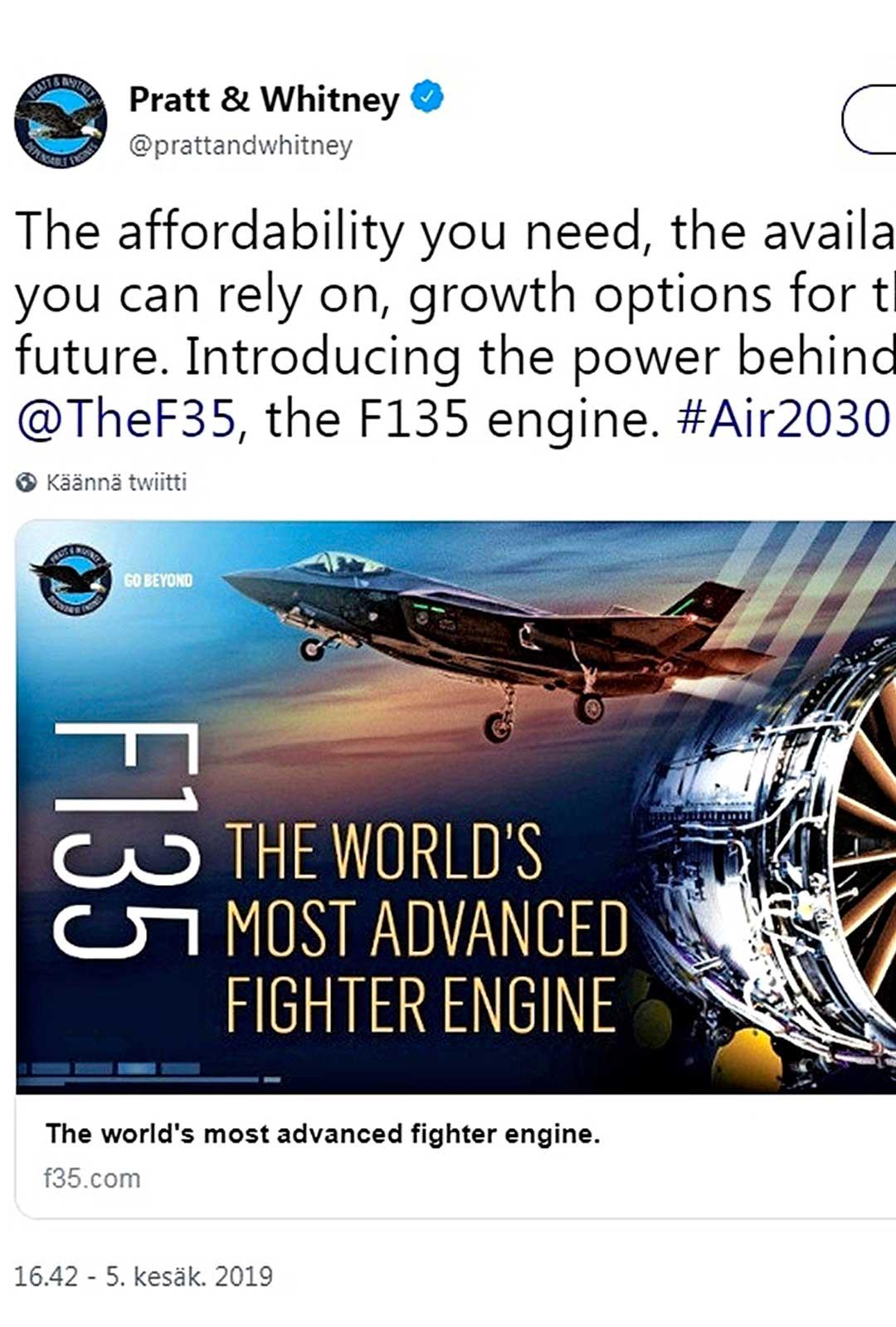 moottorivalmistaja Pratt & Whitney
