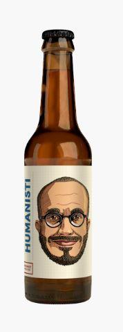 Humanisti-oluen hahmo on lempeä ja inhimillinen.