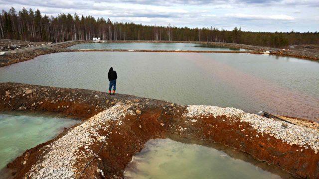 Kaivoksen saastunut vesi
