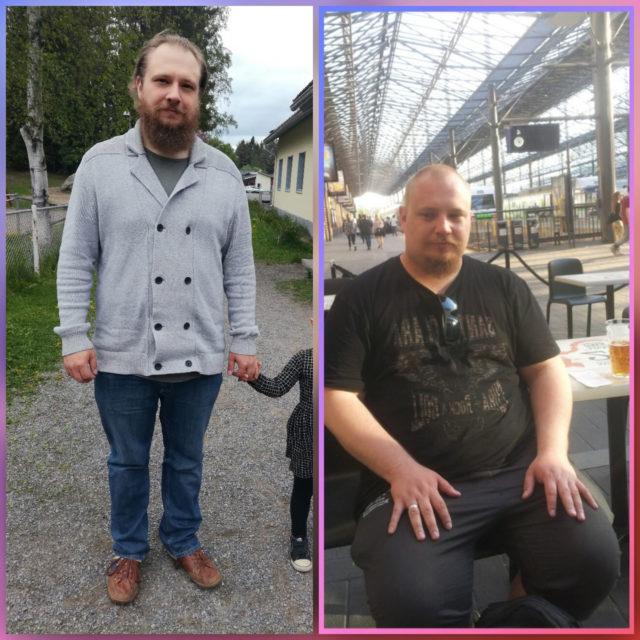 Mikko Ikäheimoa hädin tuskin tunnistaa 50 kiloa hoikempana. Hän on tyytyväinen jo nyt, mutta haluaa pudottaa vielä muutaman kilon lisää.