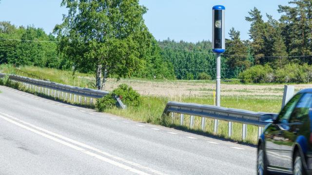 Uudet nopeusvalvontakamerat ovat samanlaisia kuin Ruotsissa.
