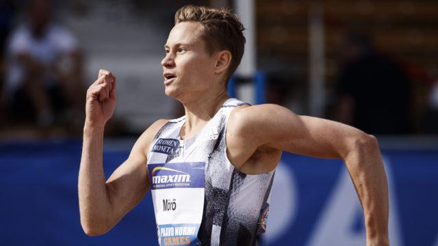 LKS 20190611 Oskari Mörö miesten 400m aidoissa yleisurheilun Paavo Nurmi Games -kilpailussa Turussa 11. kesäkuuta 2019. LEHTIKUVA / RONI REKOMAA
