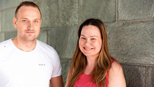 Hertta-Mari Kaukonen ja Max Seeck