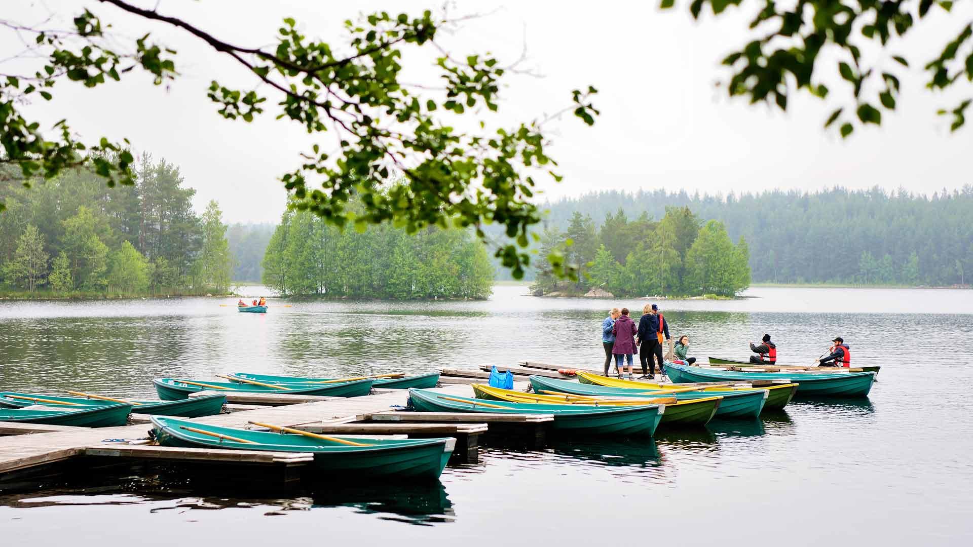 Matildajärven ranta