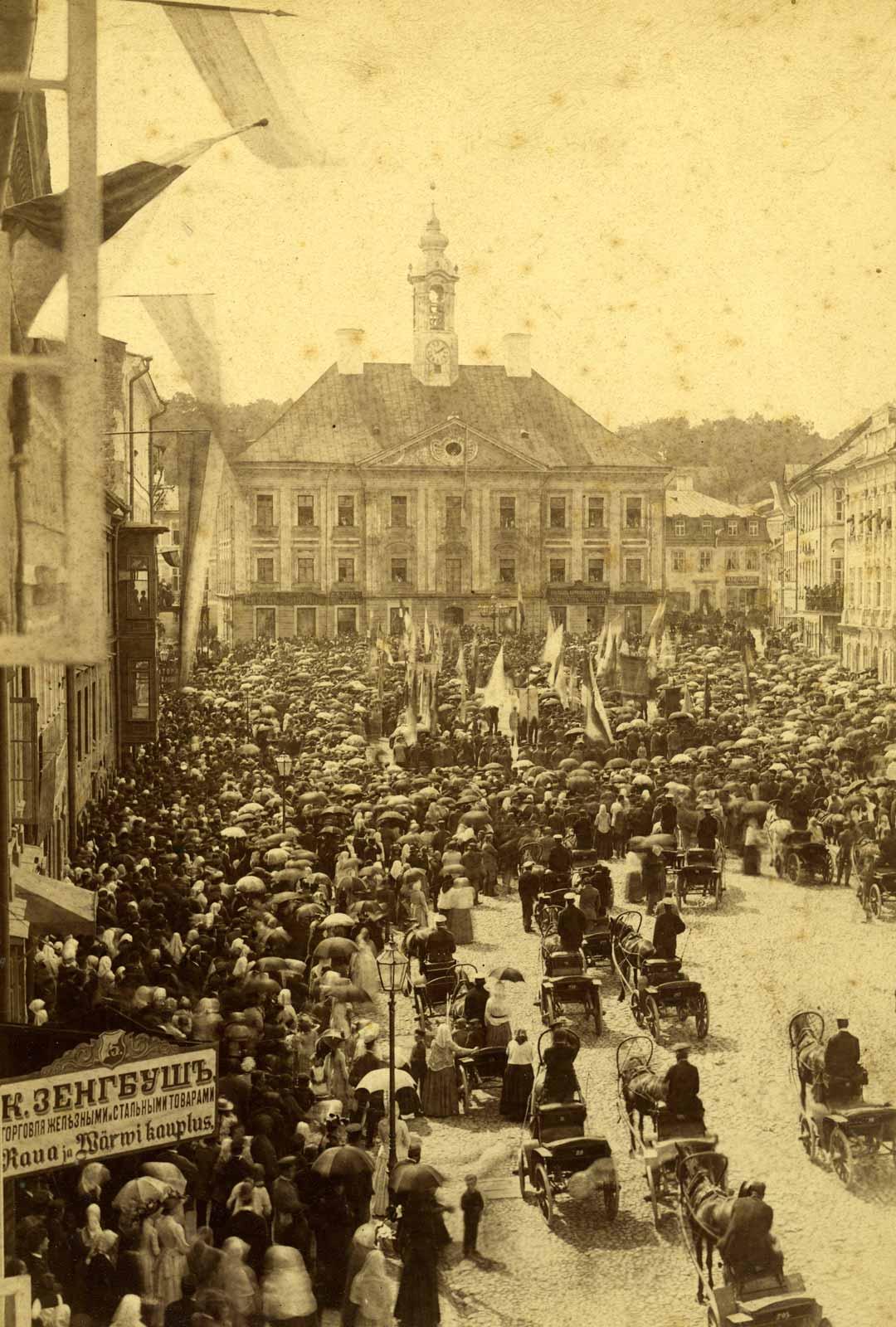 Viron laulujuhlan kulkue vuonna 1891