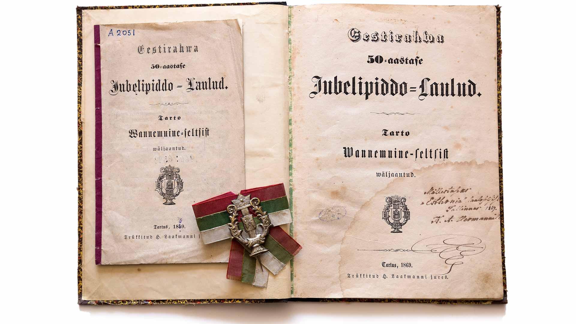 Viron ensimmäisten laulujuhlien laulukirja