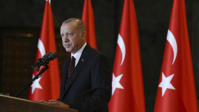 Turkin presidentti Tayyip Erdogan.
