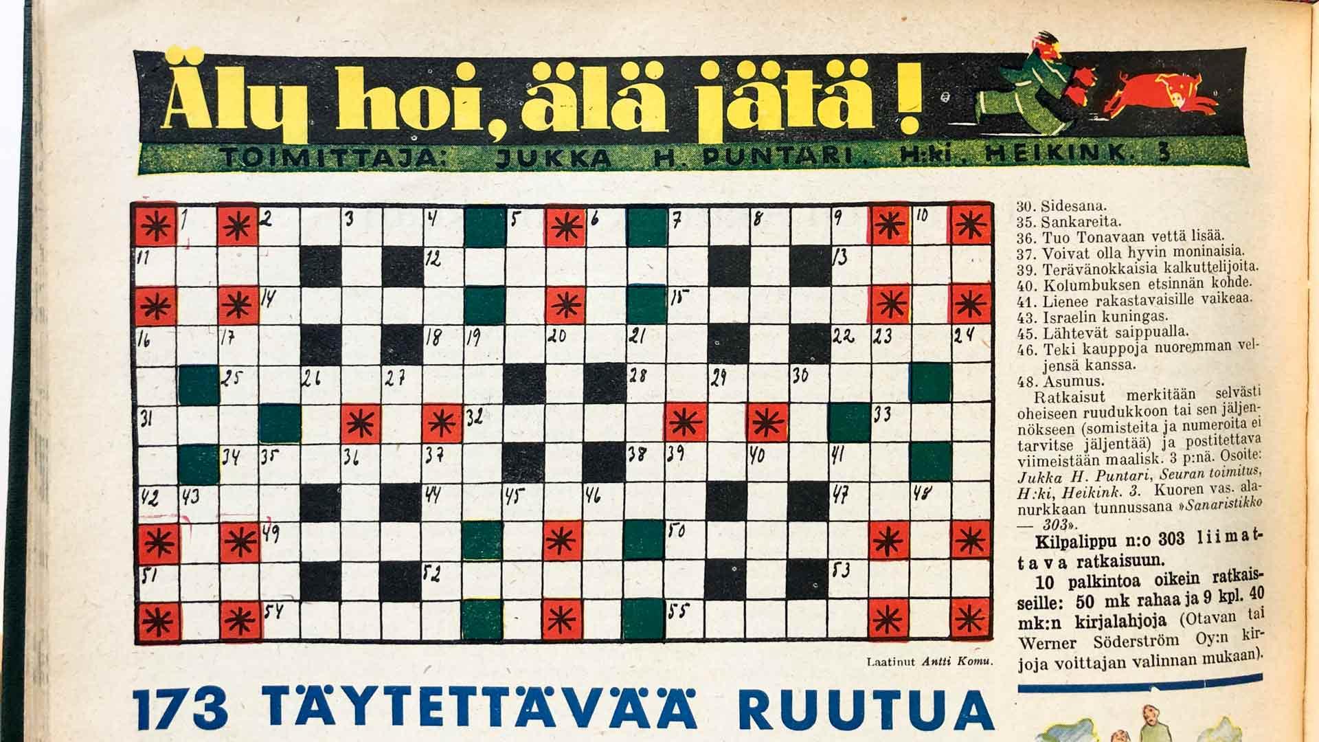 Jukka H. Puntarin tehtäväsivu