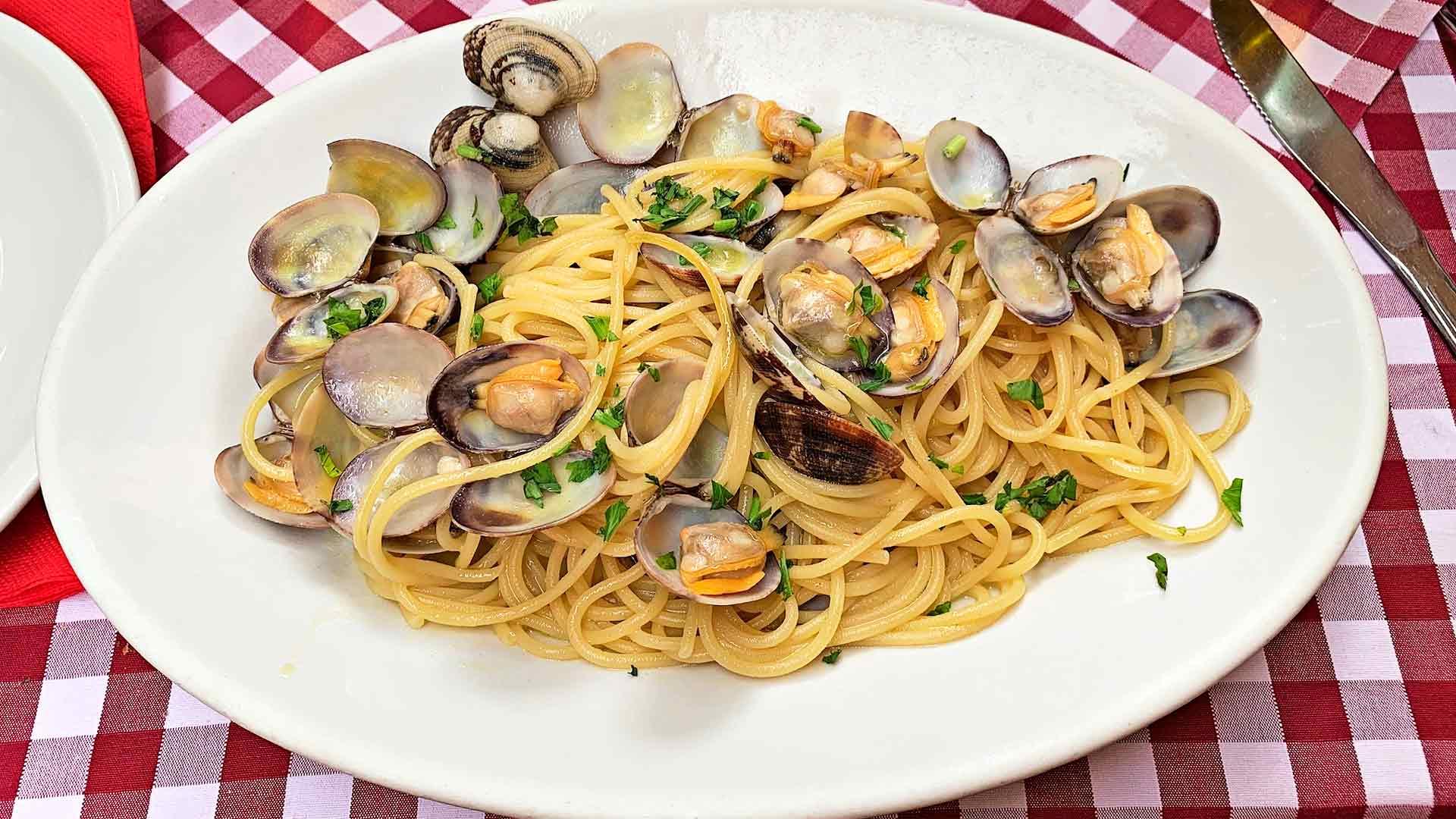 Spaghetti alle vongole eli simpukkapasta
