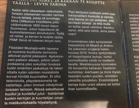 """Pate Mustajärveltä on ilmestynyt """"Teillä oli nimet, ja kerran te kuljitte täällä -levy""""."""
