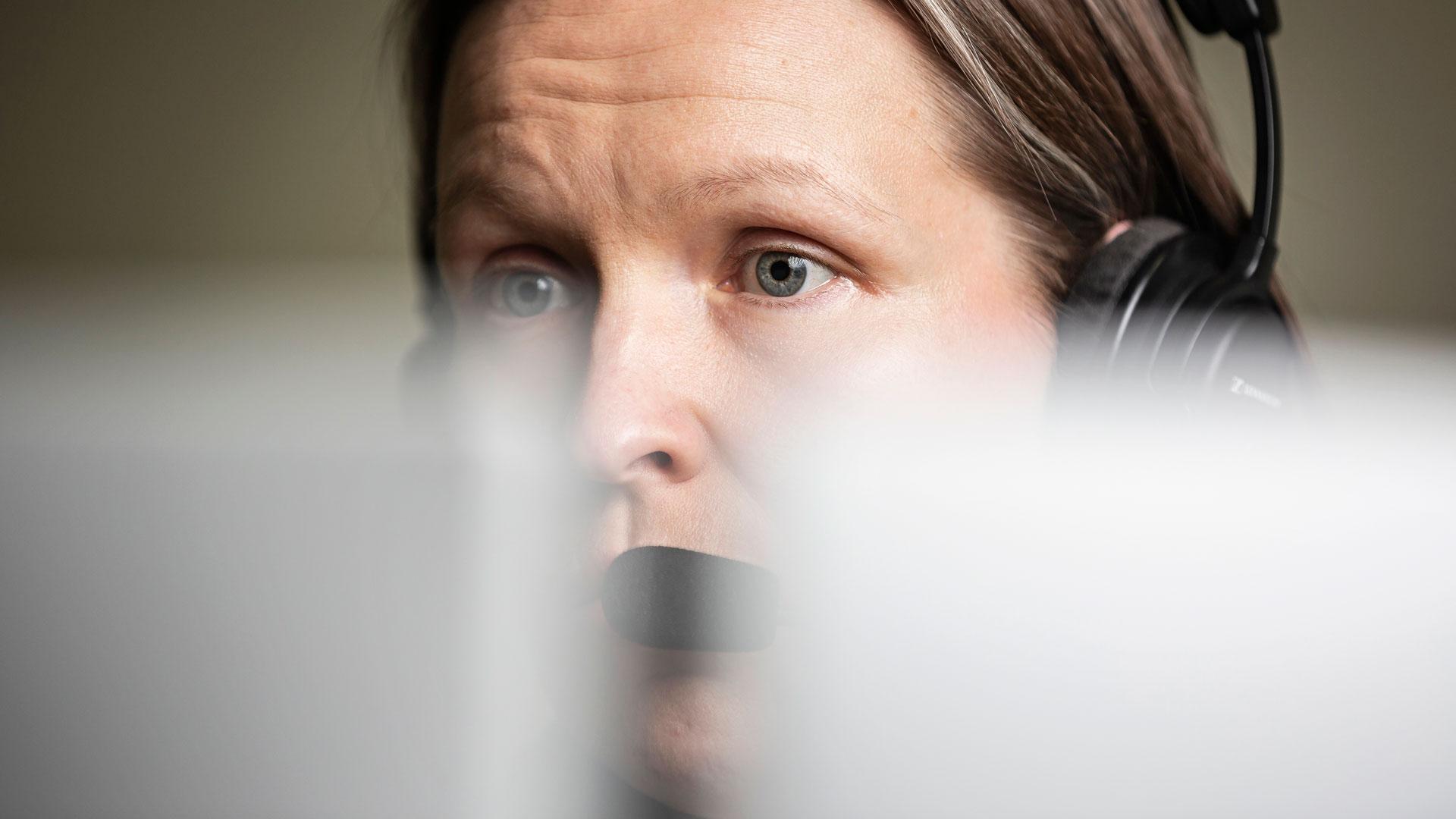 Leena Partanen hätäkeskuspäivystäjä
