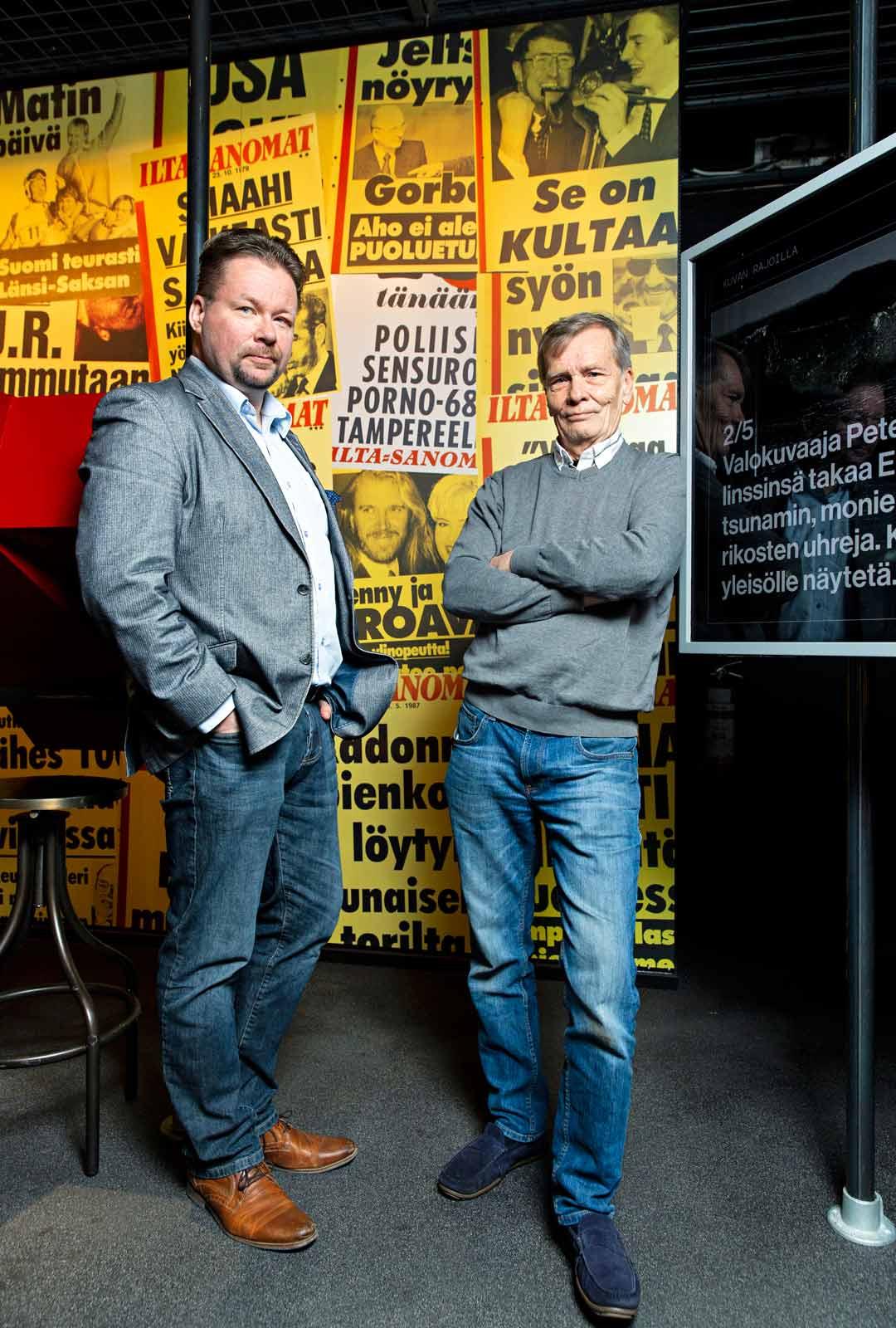 Peter Jansson ja Pasi Kivioja.