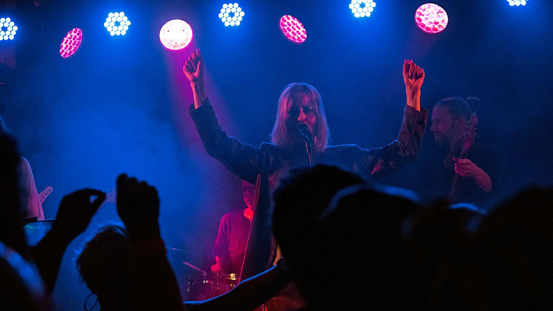 Mariska esiintyi Sompio-rockissa.