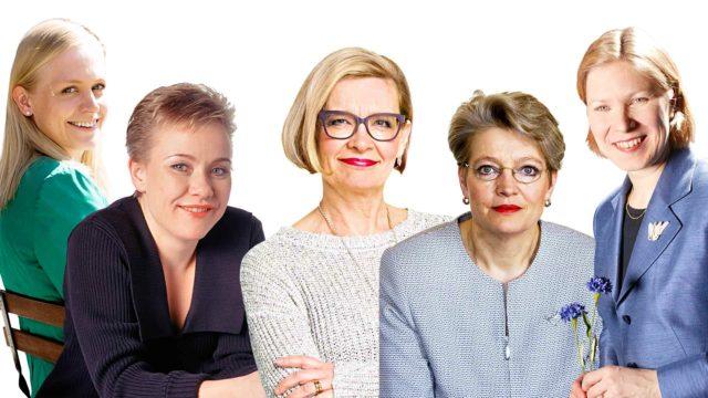 Kokeneet poliitikot Elina Lepomäki, Sirpa Pietikäinen, Paula Risikko, Maija Perho ja Marjo Matikainen-Kallström ovat kukin vuorollaan yrittäneet kokoomusjohtoon, mutta turhaan.