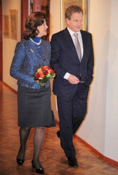 Kuningatar Silvia ja Sauli Niinistö