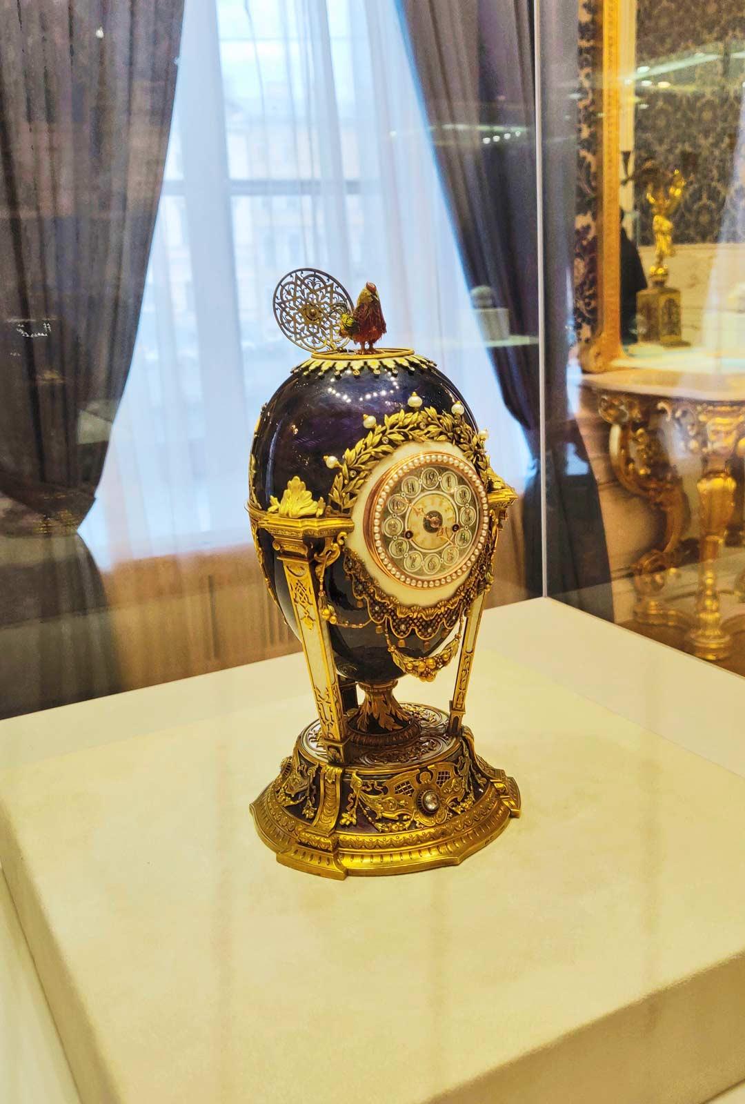 Fabergén jalokivimuseon arvokkaimpiin esineisiin kuuluvat keisarilliset pääsiäismunat.