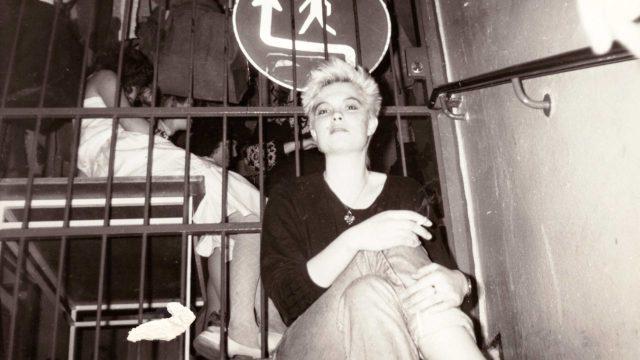 Kirsi Marie Liimatainen nuorisoklubilla, Dresden DDR 1988.