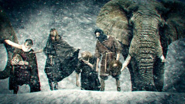 Hannibal ylitti Alpit vain 16 päivässä, mukanaan 30.000 miestä, hevoset ja norsujen armeija.
