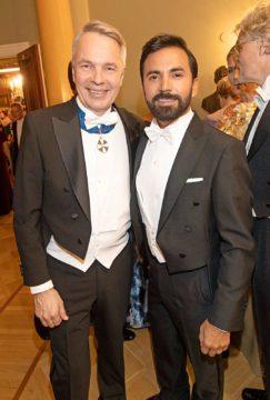 Pekka Haavisto ja Antonio Flores