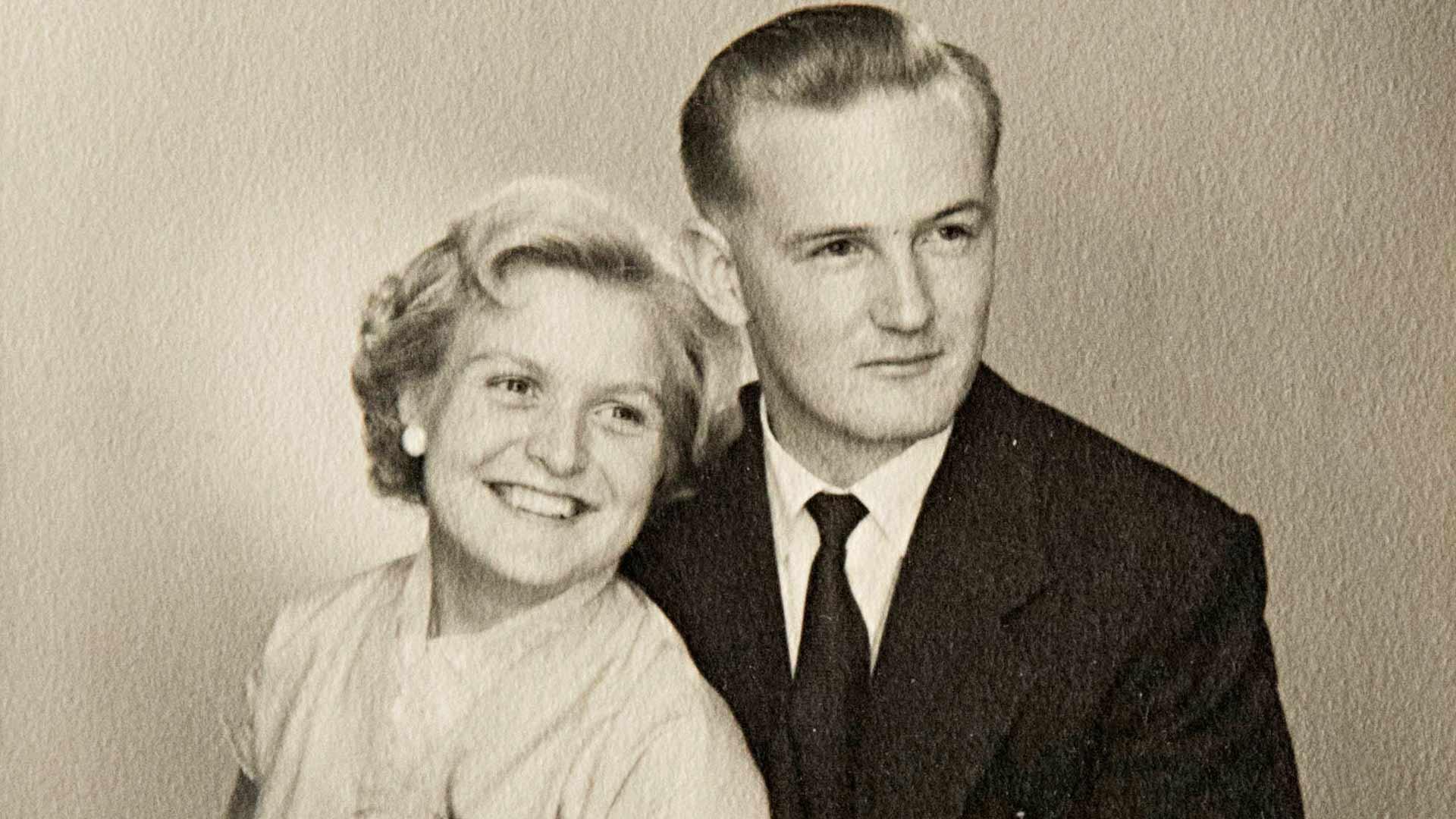 Ritvan ja Pentin hääkuva otettiin 3.9.1955.