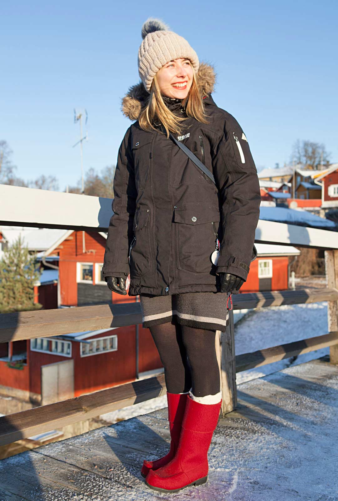 Porvoolainen Suvi Olkkola piipahti vanhan kaupungin mukulakivikaduilla.