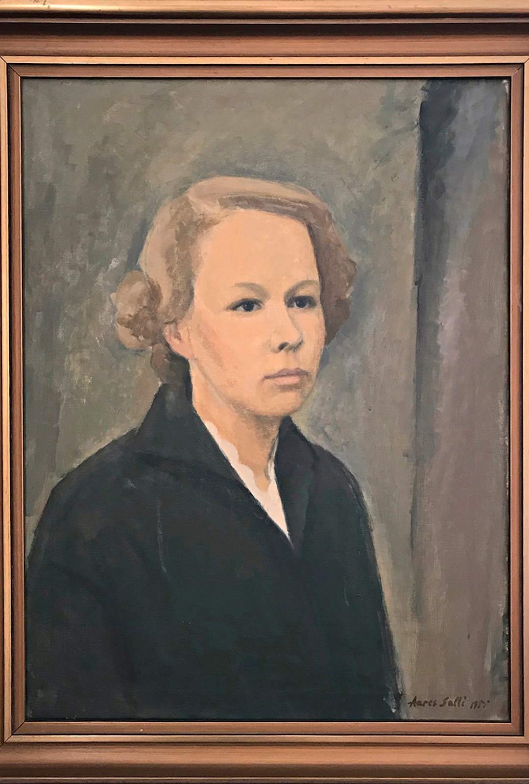 Nyblinin valokuvaamossa otettu potretti ja taiteilija Aares Sallin sen pohjalta tekemä maalaus hallitsivat Eeron mielikuvaa äidistä vuosikymmenten ajan.