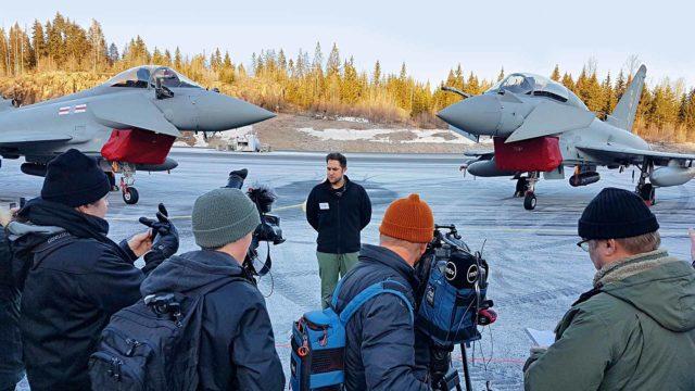 Brittien Eurofighterit tulivat viime viikolla talvitesteihin Pirkkalaan, ja vastassa oli iso mediamylläkkä. Valtioneuvosto päättää hävittäjäkaupoista vuonna 2021.