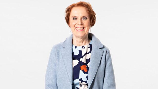 Raija Leino tuli Vivan muuttumispäivään Espoosta.