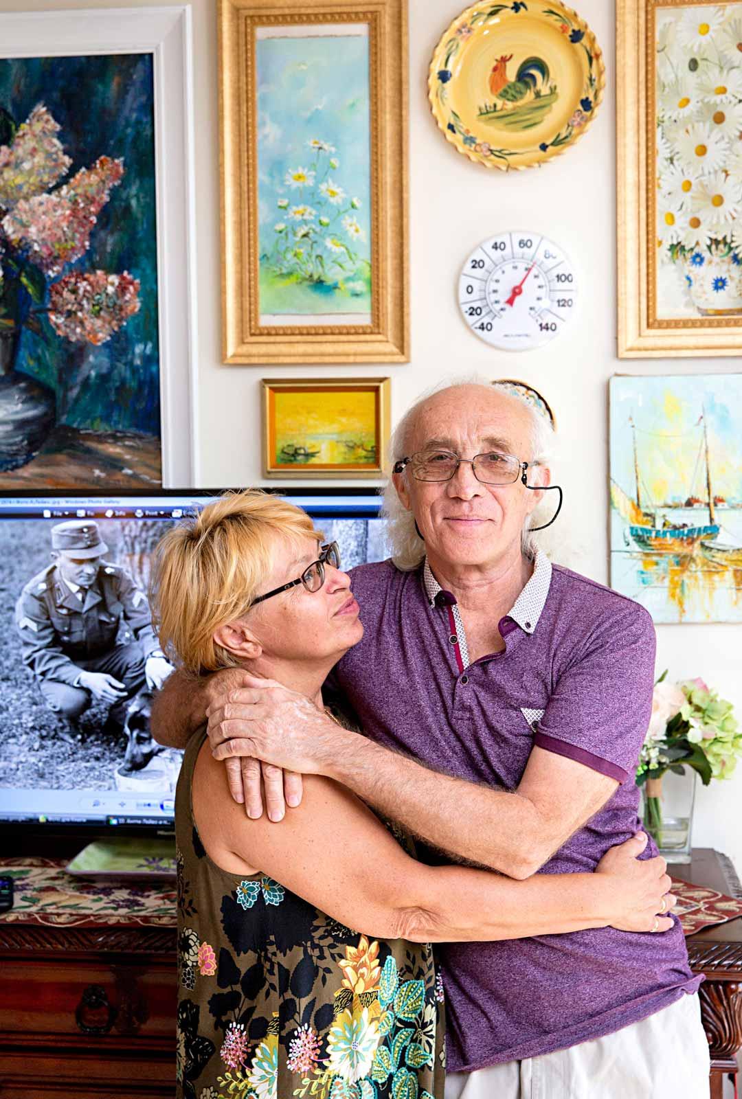 Shatravka Floridan-kodissaan nykyisen vaimonsa Irinan kanssa. Talvet pariskunta asuu Mainessa.