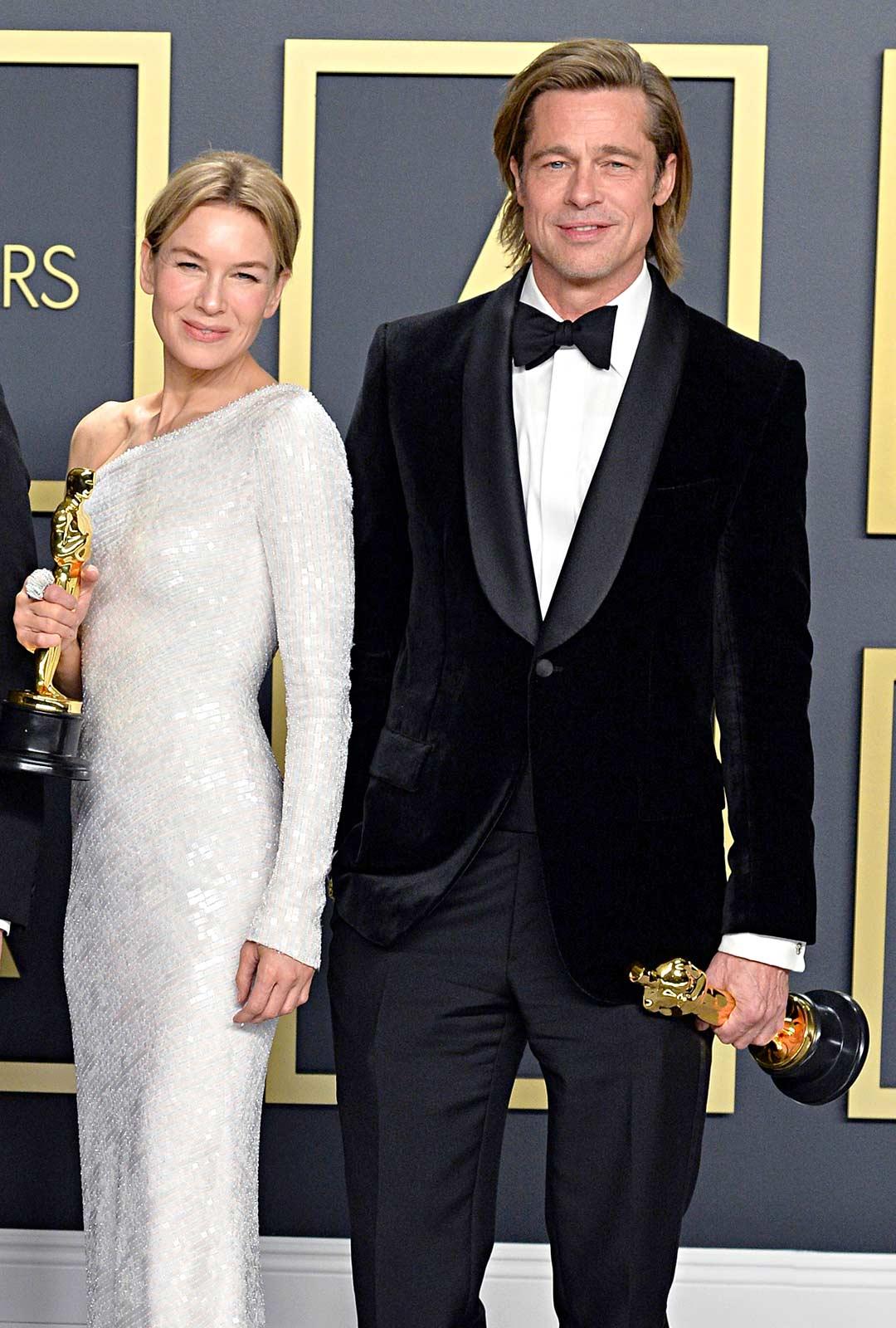 Brad Pitt palkittiin parhaasta miessivuosasta jaRenee Zellwegerparhaasta naispääosasta.